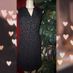 Polka dot black dress  size Small